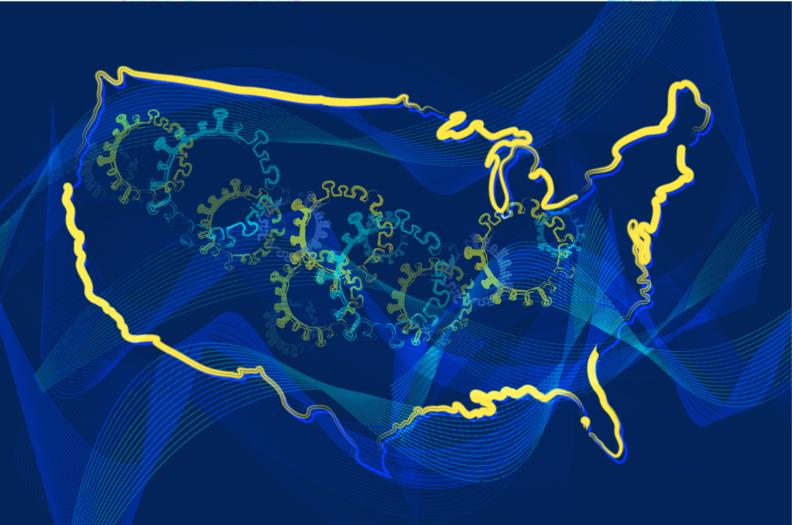 COVID U.S. map