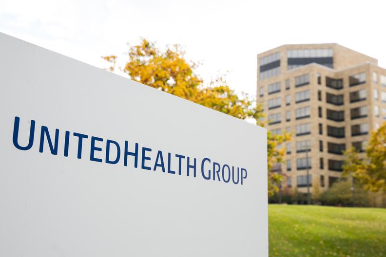 UnitedHealth Group sign