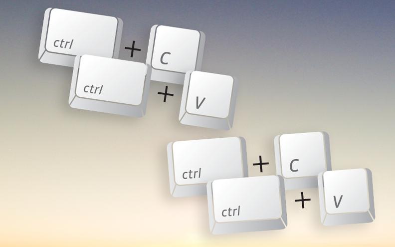 Copy and paste keys