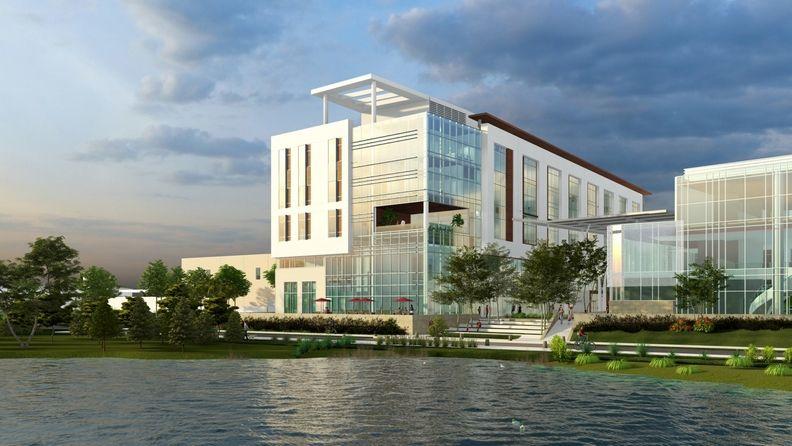 Rendering of forthcoming Durbin Park hospital,