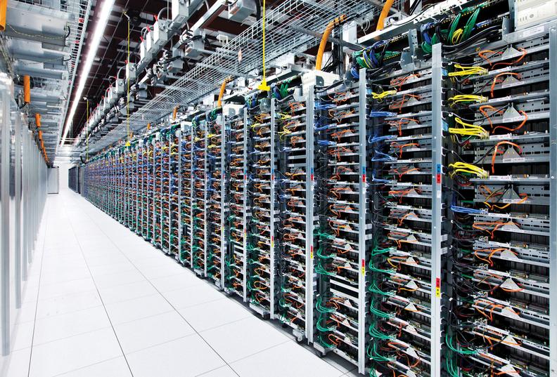 Google server row
