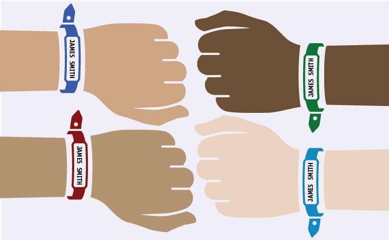 Patient hands' illustration