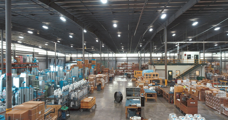 Robins & Morton prefabrication warehouse