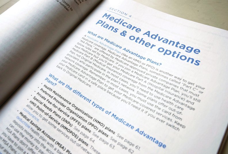A page from the 2019 U.S. Medicare Handbook discussing Medicare Advantage plans