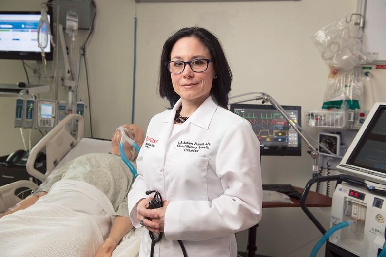 Critical-care pharmacist Liza Andrews