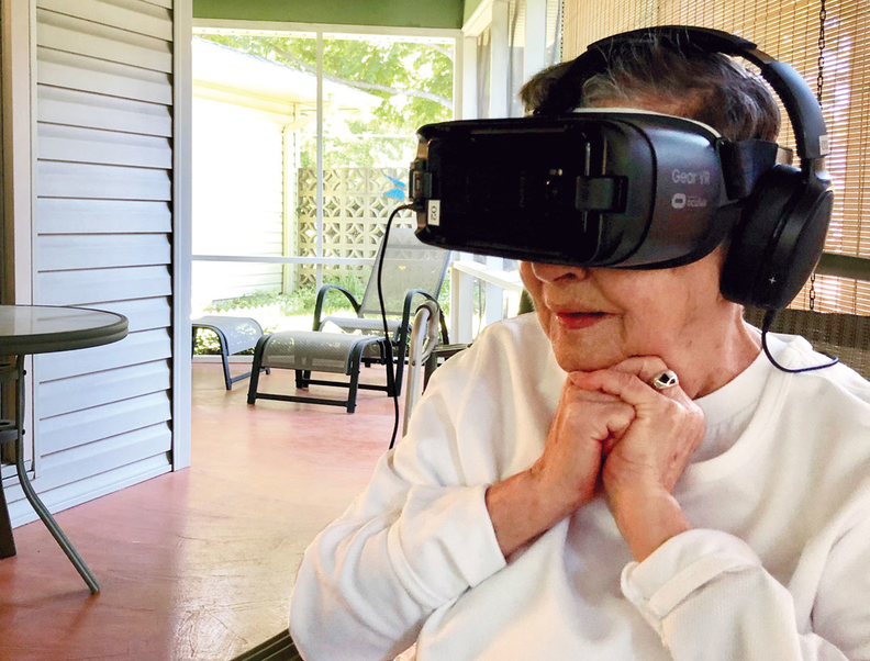 Hospice patient Marilyn Benson got a chance to take a virtual trip to Washington, D.C.