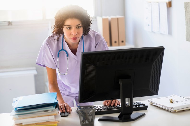 Provider using a computer