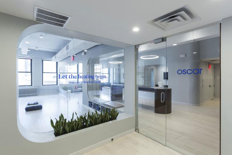 Oscar Health sign