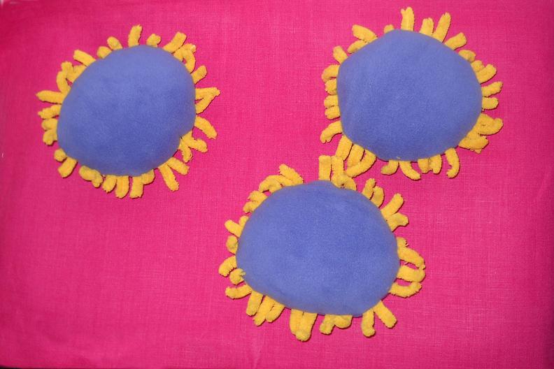 Stuffed coronavirus plushie